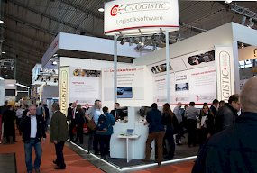 Hoher Andrang am C-Logistic-Messestand