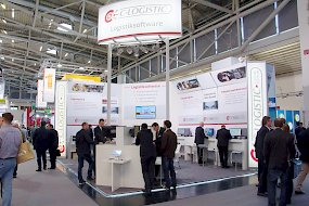 C-Logistic-Messestand auf der transport logistic 2017